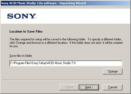 ACID install setup folder