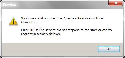Windows services error 1053