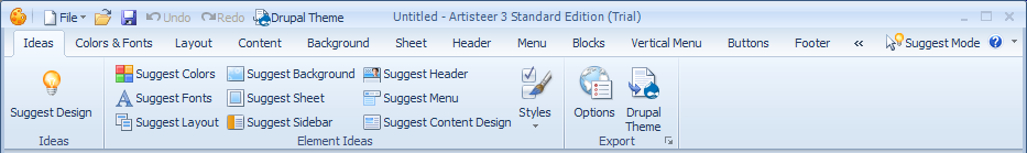 Artisteer command bars