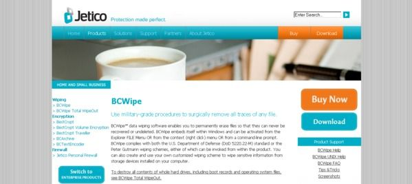 BCWipe page