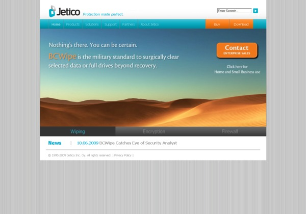 Jetico home page