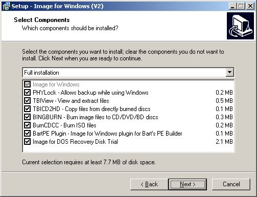 Image for Windows components