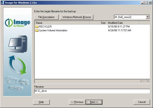Image for Windows target file