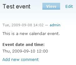 Drupal test event