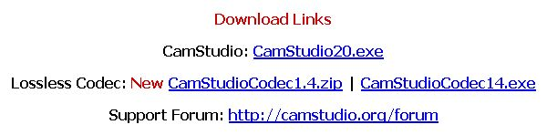 CamStudio download links