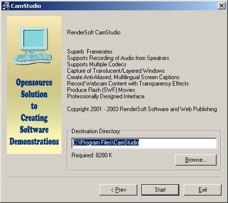 CamStudio installation folder