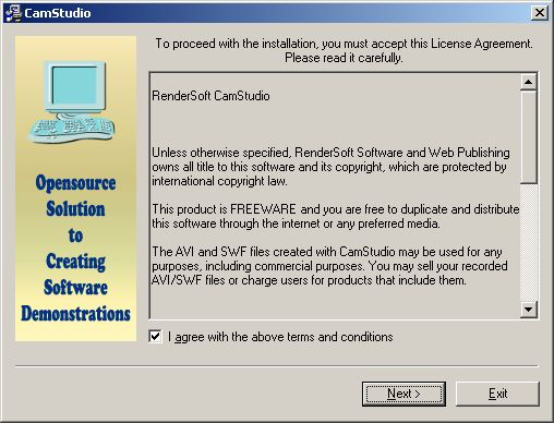 CamStudio license