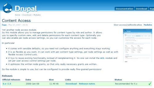 Content Access module download
