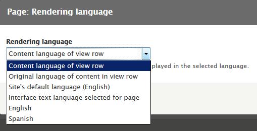 View rendering language