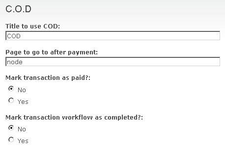 COD options