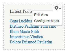 Contextual view default