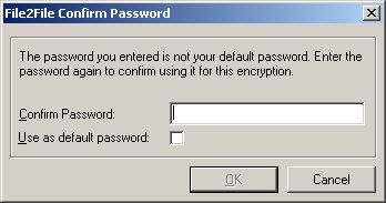 File2File new password confirmation