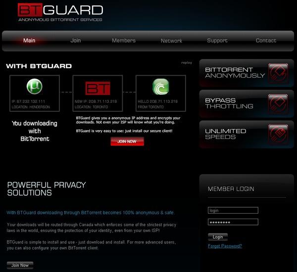 BTGuard home page