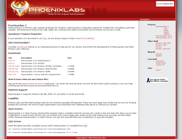 Phoenix Labs home page