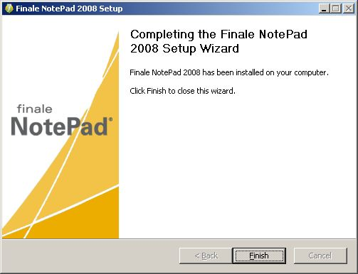 NotePad install completed