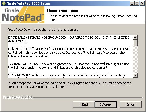 NotePad install license