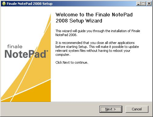 NotePad install welcome