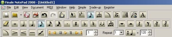NotePad menu and tool bars