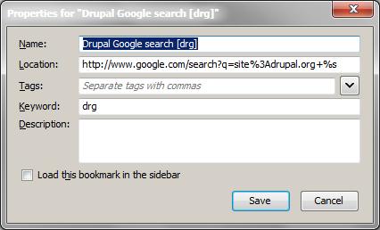 Firefox bookmark