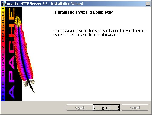 Installing Apache - completed