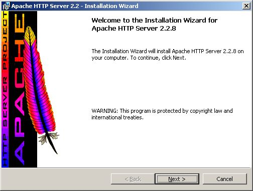 Installing Apache - welcome