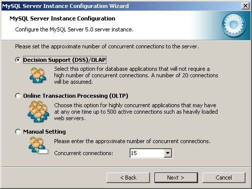 Configuration Wizard - concurrent connections