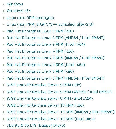 MySQL platforms