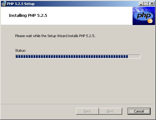 Setup Wizard - installing