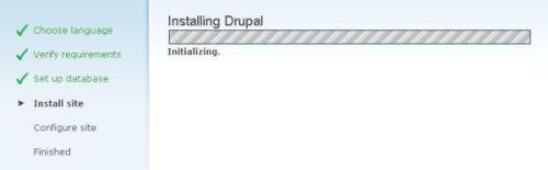 Installing files progress