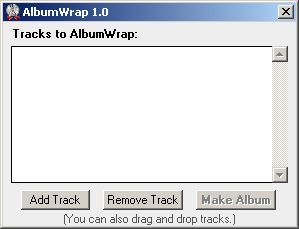 AlbumWrap start screen