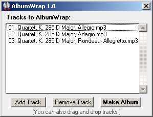 AlbumWrap tracks added