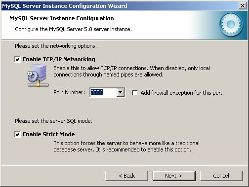 Configuration Wizard - networking options