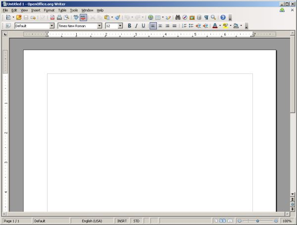 Writer new document