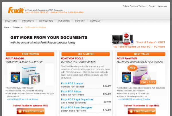 Foxit Reader page
