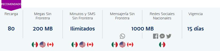 Telcel Mexico prepaid plan