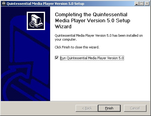 Quintessential install wizard complete
