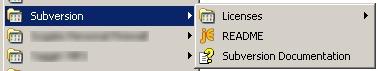Subversion Start menu