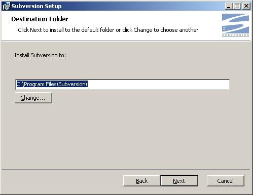 Subversion install folder