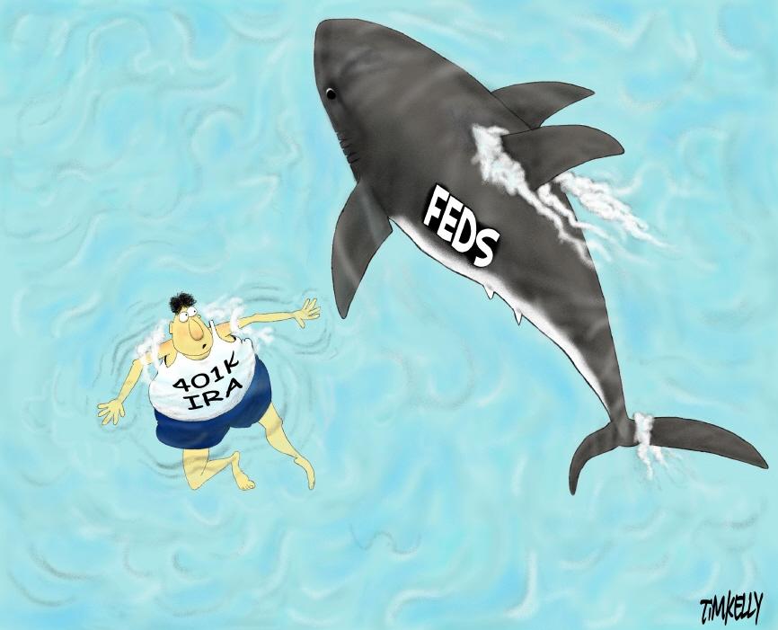 Feds shark eyeing 401k IRA investor