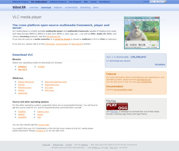 VLC home page