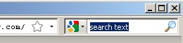 Firefox search field