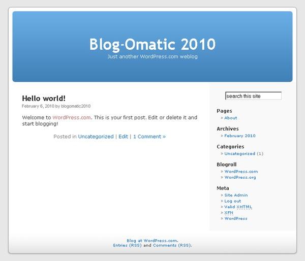 Initial blog