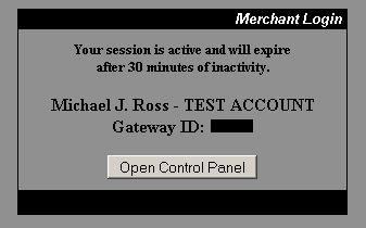 Merchant Login Panel