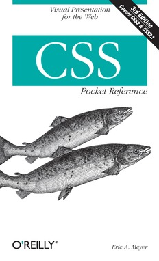 CSS Pocket Reference, 3rd Edition