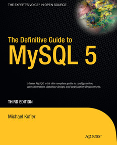 Definitive Guide to MySQL 5, 3rd Edition