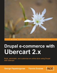 Drupal E-commerce with Ubercart 2.x