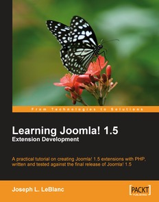 Learning Joomla! 1.5 Extension Development, 2nd Edition