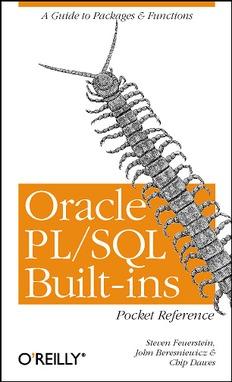 Oracle PLSQL Built-ins Pocket Reference