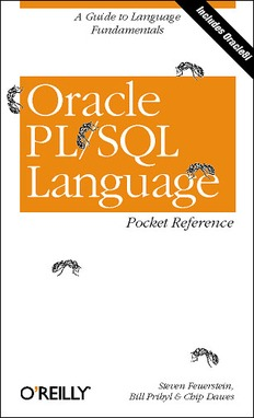 Oracle PLSQL Language Pocket Reference, 2nd Edition