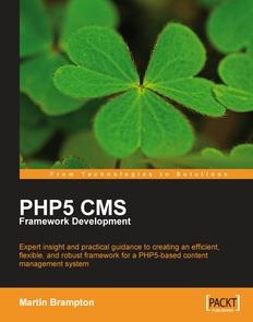 PHP 5 CMS Framework Development